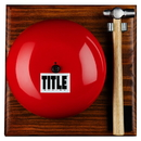 TITLE Boxing TRG Ring Gong And Hammer Set