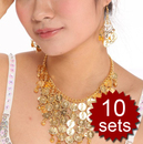 Wholesale 10 Belly Dancing Jewelry - Coin Necklace and earrings