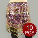 Wholesale Lot 10 Dangling Dazzling Noble Hanging Coins Belly Dance Hip scarf