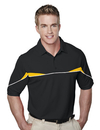 Tri-Mountain 050 Marauder Men's SS Knit Polo Shirt, w/ Self Collar, Piping and Contrast Inserts, Embroidery