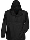 Tri-Mountain 1000 Navigator Unlined nylon 1/2 zip anorak hooded jacket