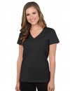 Tri-Mountain 130 Appeal Women's cotton jersey short sleeve v-neck knit
