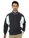 Tri-Mountain 2550 Warrior Men's 100% Polyester Micro V neck long sleeve wind shirt