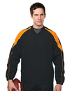 Tri-Mountain 2630 Hiro Men's 100% polyester v-neck long sleeve wind shirt with water resistent
