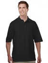 Tri-Mountain 305 Assembly Men's 60/40 easy care knit shirt with snap closure. Ideal cook shirt