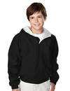 Tri-Mountain 3500 Bay Watch/Youth Youth nylon hooded jacket with jersey lining