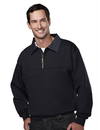 Tri-Mountain 645 ALERT Cotton/poly 1/4 zip firefighter's work shirt with denim