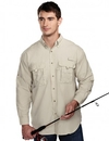 Tri-Mountain 705 Marlin Men nylon long sleeve shirt with UPF protection and ventilated back