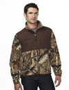 Tri-Mountain 7450C FRONTIERSMAN CAMO Men's 100% Spun polyester Anti Pilling Fleece Jacket
