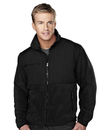 Tri-Mountain 7450 Frontiersman Men's panda fleece jacket with nylon paneling