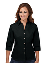 Tri-Mountain 763 Affinity Women's 60/40 stain resistant open neck 3/4 sleeve shirt
