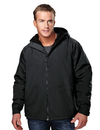 Tri-Mountain 8480 Conqueror Men's nylon hooded jacket with fleece lining