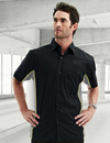 Tri-Mountain 926 GT-3 Men's Cotton/Poly 60/40 TMR SS Woven Shirt, w/ Knitted Side Panel