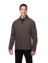 Tri-Mountain J6468 Overland Men's bonded zip jacket w/TMP smoky zip pull, two pocket with snap closure