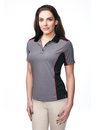 Tri-Mountain KL340 Lady Accolade Women's 100% Polyester Y.D. Knit S/S Golf Shirt, Embroidery