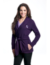 Tri-Mountain LB673 Bethany Women's 57% Ctn/38% Poly/5% Spandex Knit Robe Jacket with faux belt, Embroidery