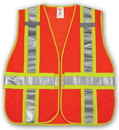 Tingley V70839 Job Sight Class 2 Adjustable Vest, Orange