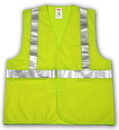 Tingley Polyester Solid, Hook & Loop Closure, Class 2 High Visibility Vest Fluorescent Yellow-Green