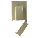 Vanco 120616X Hinged Bundled Cable Plate - Ivory