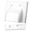 Vanco Dual Hinged Bundled Cable Plate - White, 120627X