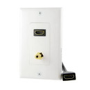 Vanco HDMI Pigtail Wall Plate w/ 3.5mm, 120935X
