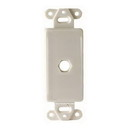 Vanco Decor 1 Port Hex Hole Plate - White, 280301X