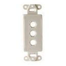 Vanco Decor 3 Port Hex Hole Plate - White, 280303X