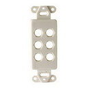Vanco Decor 6 Port Hex Hole Plate - White, 280306X