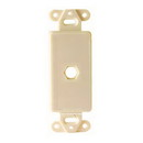 Vanco Decor 1 Port Hex Hole Plate - Ivory, 280311X