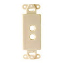 Vanco Decor 2 Port Hex Hole Plate - Ivory, 280312X