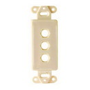 Vanco Decor 3 Port Hex Hole Plate - Ivory, 280313X