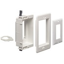 Arlington 1-Gang Recessed Low Voltage Mounting Bracket - White, ARL-LVU1W