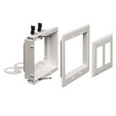 Arlington 2-Gang Recessed Low Voltage Mounting Bracket - White, ARL-LVU2W