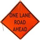 MDI One Lane Road Ahead Traffic Sign - 36in