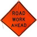 MDI Road Work Ahead Traffic Sign - 36in