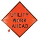 MDI Utility Work Ahead Traffic Sign - 36in, MDI-DCF04203