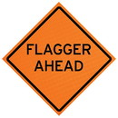 MDI Traffic Control Products MDI-P2N-04095 MDI Non-Reflective Flagger Ahead Traffic Sign - 48in
