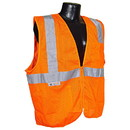 Radians Class 2 Vest with Zipper, Orange - Large