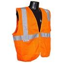 Radians Class 2 Vest with Zipper, Orange - Medium