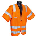 Radians RAD-SV83OM3X Radians Class 3 Type R Mesh Vest w/ Zipper, Orange - 3XL