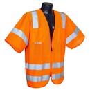 Radians RAD-SV83OML Radians Class 3 Type R Mesh Vest w/ Zipper, Orange - Large