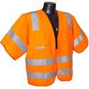Radians Class 3 Sleeved Vest with Zipper, Orange - 3XL, RAD-SV83OS3X