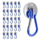 Super Strong 35lb Neodymium Magnetic Base w/ Carabiner - 25 Pack