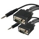 Vanco VGA Cable 15ft w/Audio, VAN-VGAA-15X