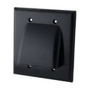 Vanco Dual Low Profile Bundled Cable Wall Plate - Black, VANWPBW2BX