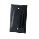 Vanco Low Profile Bundled Cable Wall Plate - Black, VANWPBWBX