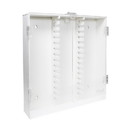 TrippNT 50004 White PVC Lockable 30 Column HPLC Storage Cabinet with Acrylic Doors in 6 Colors
