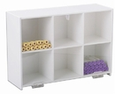 50117 White PVC and Clear Acrylic Standing Storage with Six Bins: 15 x 11 x 5 inches WHD