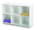 TrippNT 50117 White PVC and Clear Acrylic Standing Storage with Six Bins: 15 x 11 x 5 inches WHD
