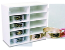 TrippNT 50362 White PVC 10 Compartment Test Sieve Cabinet with Clear Acrylic Doors: 20 x 18 x 10 inches WHD